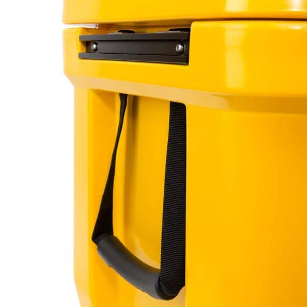 65 Quart Cooler Nylon Handle Straps And Built-In Side Handles Close Up