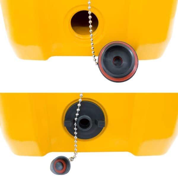 45 Quart Cooler Dual-Sized Drain Plug