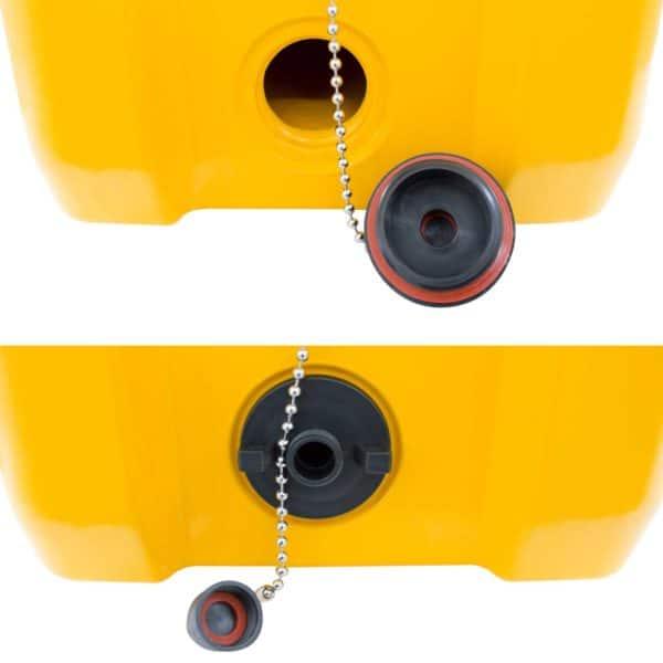 65 Quart Cooler Drain Plug Close Up
