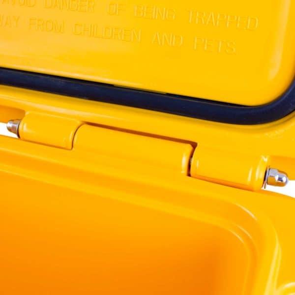 65 Quart Cooler Hinge Close Up