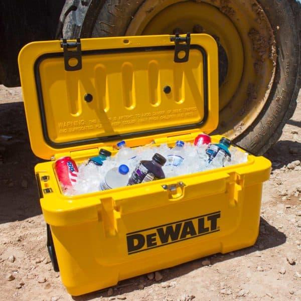 DEWALT Cooler Lifestyle With Drinks