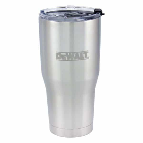 30oz_Dewalt-Tumbler-StainlessSteel-With-Lid-On