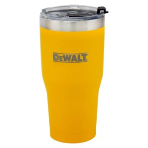 30 oz Yellow Powder Coated Industrial Drinkware