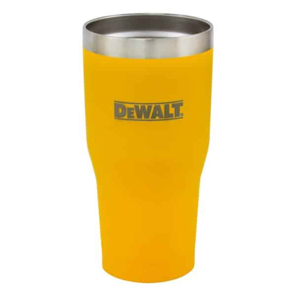 30 oz Yellow Powder Coated Industrial Drinkware Without Lid